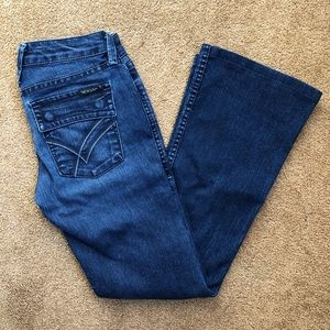 William Rast Belle Flare Navy Chrome Jeans